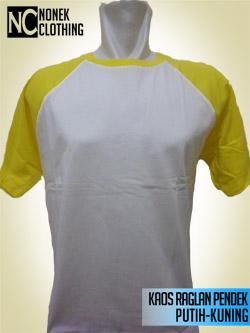 Kaos Raglan Pendek Putih-Kuning