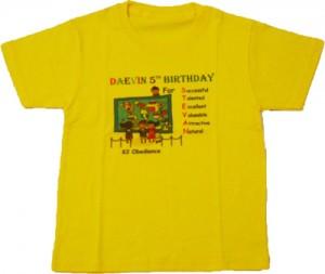 Kaos Ulang Tahun Daevin